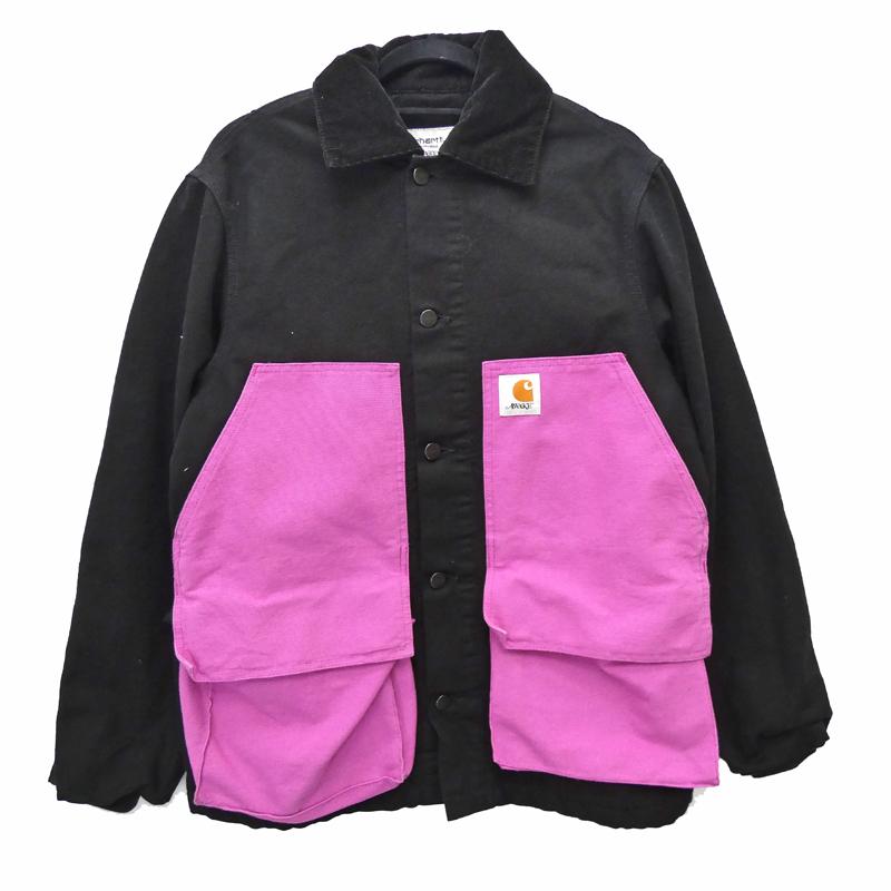 【中古】Carhartt WIP カーハートダブリューアイピー Michigan Chore Coat 20SS x AWAKE カバーオール サイズ:S カラー:ブラック / ストリート【f095】