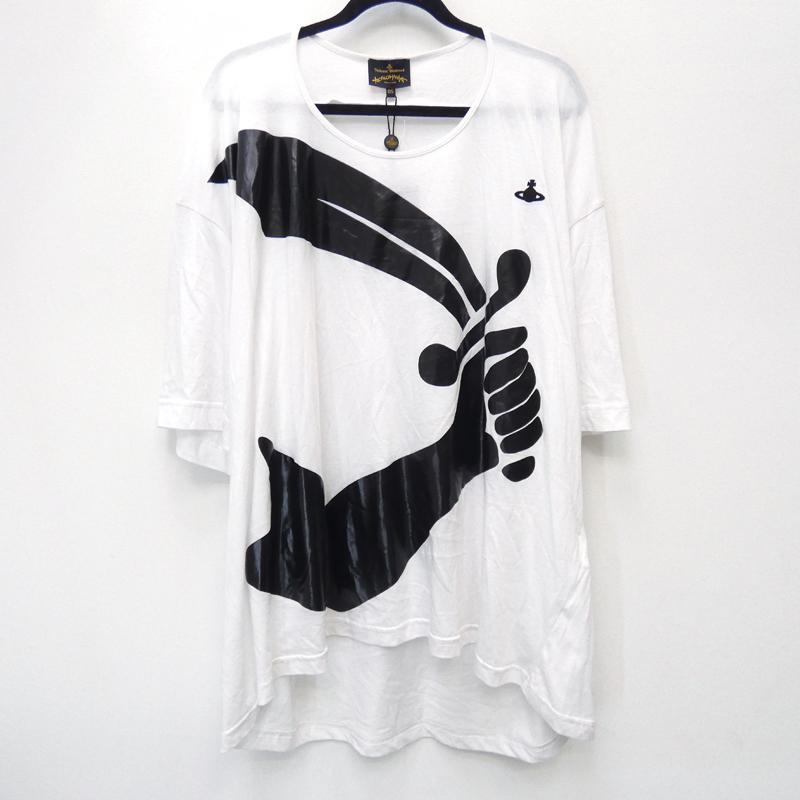 【中古】Vivinne Westwood ANGLOMANIA ヴィヴィアンウエストウッドアングロマニア 14-01-341030 'ARM AND CUTLASS T-SHIRT' Tシャツ半袖 サイズ:0 カラー:ホワイト【f108】