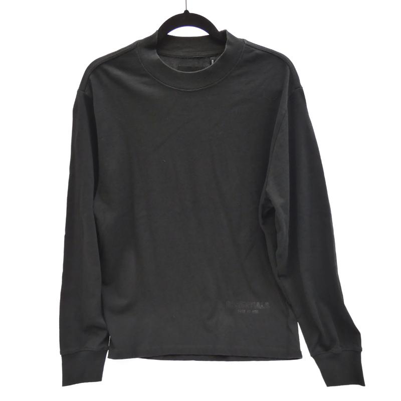 【中古】FOG FEAR OF GOD フィアオブゴッド'REFLECTOR LOGO L/S TEE' Tシャツ長袖 サイズ:XS カラー:ブラック【f108】