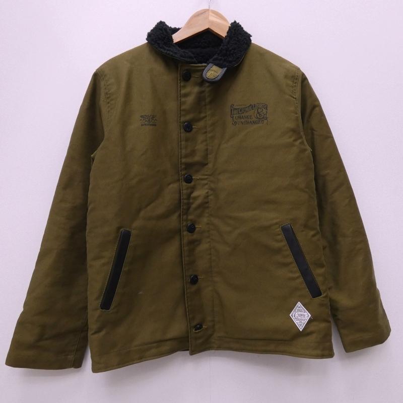 人気デザイナー CRIMIE クライミー デッキジャケット サイズ:LL カラー:カーキグリーン【f096】, アートひろば 56a0e010
