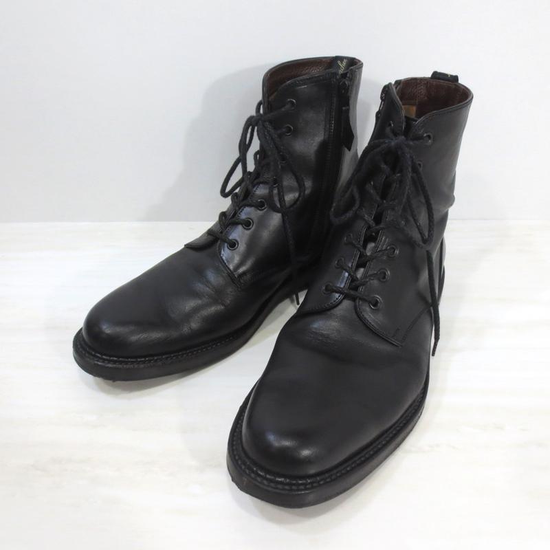 【中古】foot the coacher|フットザコーチャー ZIP UP PLAIN(leather sole) ジップアップ プレーンブーツ レザーソール / サイドジップ レザーブーツ サイズ:8・1/2 カラー:black【f127】