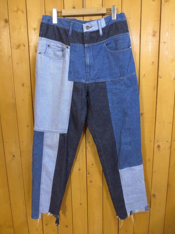 【中古】MIHARAYASUHIRO/ミハラヤスヒロ パッチワークジーンズ サイズ:46 カラー:インディゴ / ドメス