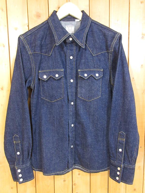 【中古】THE FLAT HEAD/フラットヘッド デニム ウエスタンシャツ サイズ:38 カラー:インディゴ / アメカジ