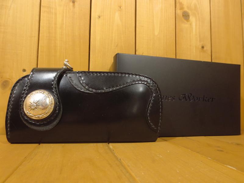 【中古】ONES WORKER/ワンズワーカー 二つ折り レザーロングウォレット / 長財布 カラー:ブラック
