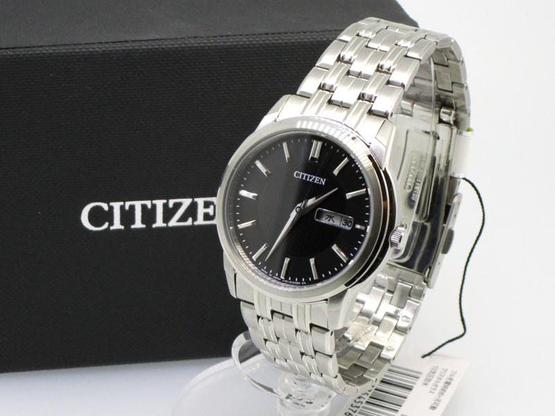 【中古】CITIZEN/シチズン エコドライブ 腕時計 BM9000-52E ブラック×シルバー ソーラー ステンレススティールベルト
