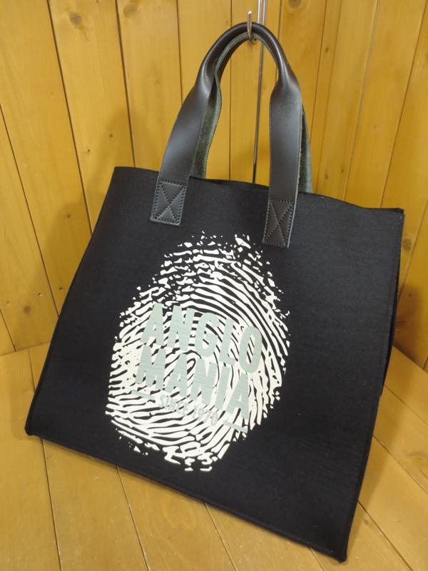 【中古】Vivienne Westwood ANGLOMANIA/ヴィヴィアンウエストウッドアングロマニア ロゴプリント フェルト トートバッグ カラー:ブラックなど