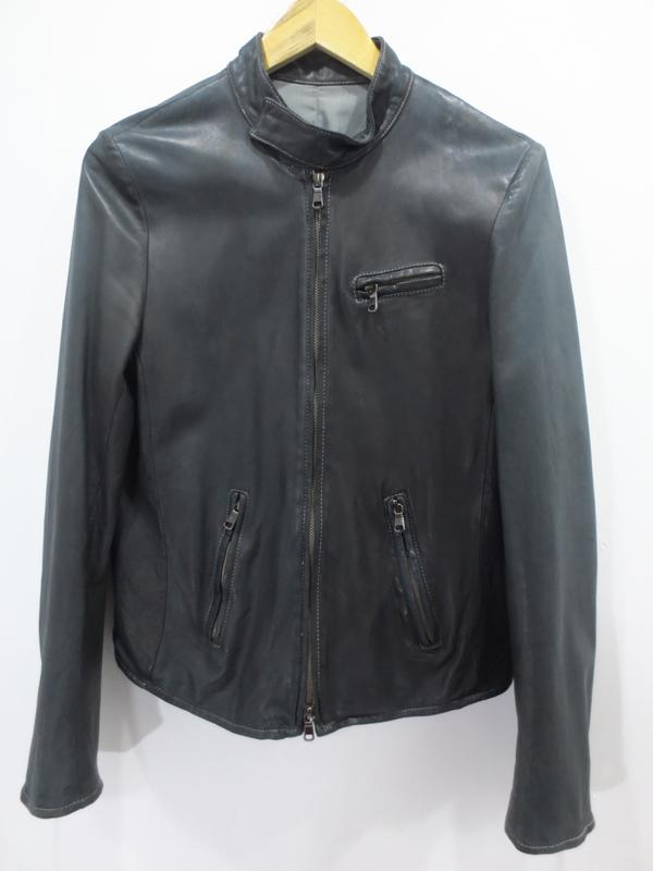 【中古】BOISNONVERNI/ボイスノンヴァーニ シングルライダースジャケット サイズ:48 カラー:- / ドメス