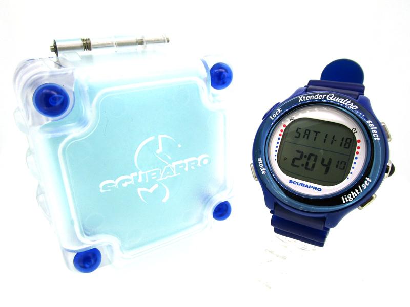 【中古】SCUBAPRO/スキューバプロ Xtender Quattro 腕時計 DW40-4A10 -×ブルー クォーツ 樹脂バンド