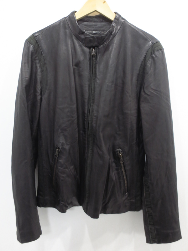 【中古】BRAY STEVE ALAN/ブレイスティーブアラン シングルライダースジャケット サイズ:- カラー:ブラック / インポート