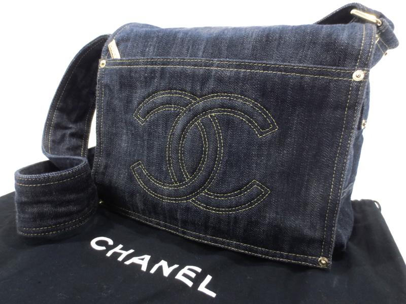【中古】CHANEL|シャネル A31987 スパークリングデニム ショルダーバッグ