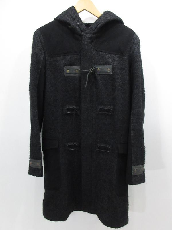 【中古】DIESEL BLACK GOLD/ディーゼルブラックゴールド ロングコート サイズ:M カラー:ブラック / インポート