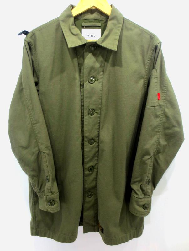 【中古】WTAPS/ダブルタップス BUDS LONG JACKET ジャケット サイズ:2 カラー:カーキ / ストリート