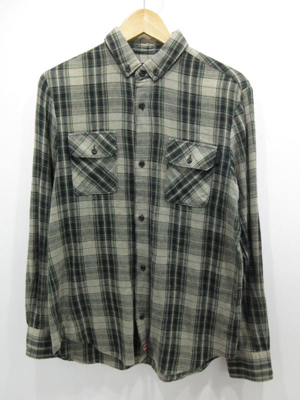【中古】UNDER COVER/アンダーカバー ボタンダウン チェックシャツ サイズ:1 カラー:- / ドメス