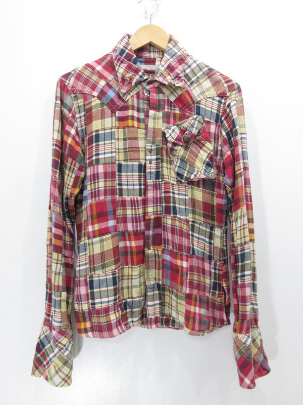 【中古】FranCisT_MOR.K.S./フランシストモークス チェックフックシャツ サイズ:2 カラー:- / ドメス