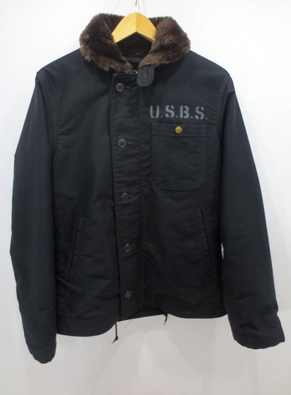 【中古】ALPHA/アルファ デッキジャケット サイズ:M カラー:ブラック / アメカジ