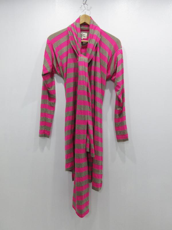【中古】Vivienne Westwood/ヴィヴィアンウエストウッド ボーダードルマンTシャツ サイズ:38 カラー:ピンク系 / インポート