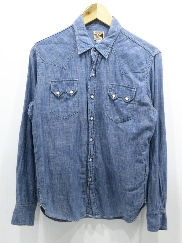 【中古】JOE McCOY/ジョーマッコイ シャンブレーウエスタンシャツ サイズ:- カラー:ブルー系 / アメカジ【f101】