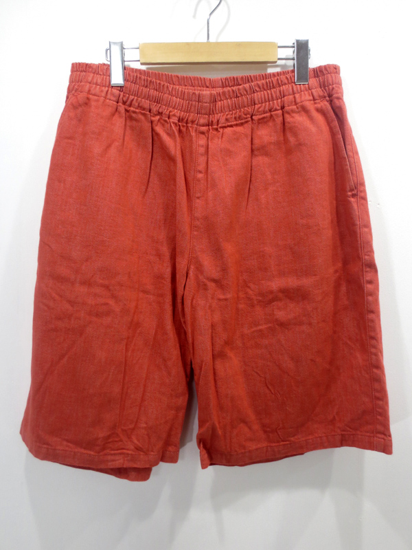 【中古】gourmet jeans/グルメジーンズ ハーフパンツ サイズ:- カラー:オレンジ / ドメス【f107】