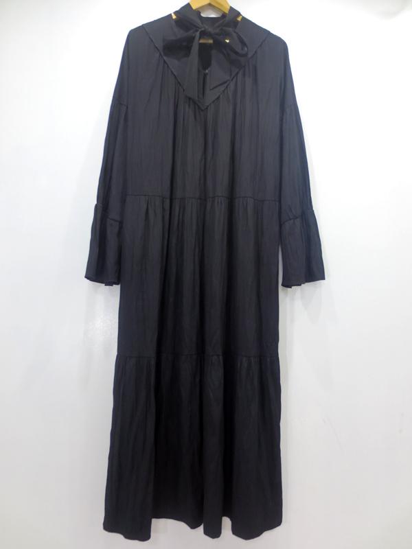 【中古】ELIN/エリン Satin bowtie dress ワンピース 11705-24-1111 サイズ:36 カラー:ブラック【f110】