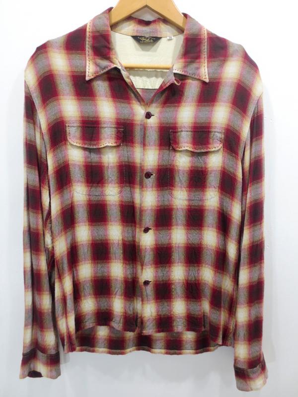 【中古】THE FLAT HEAD/フラットヘッド レーヨン チェック長袖シャツ サイズ:38 カラー:- / アメカジ【f101】