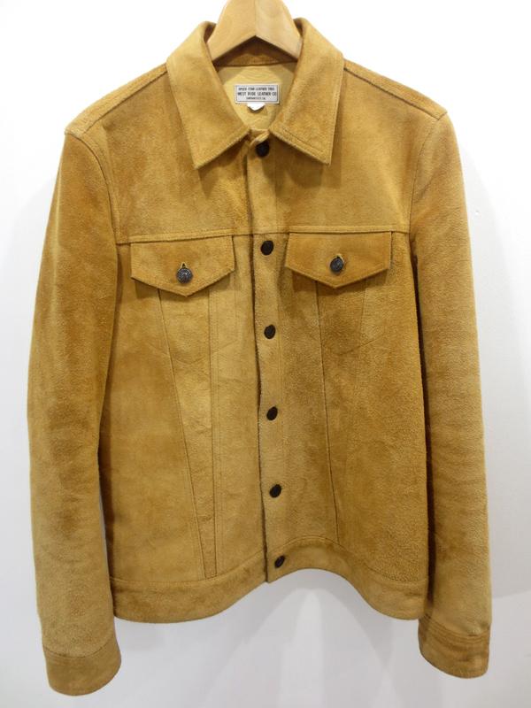 【中古】WEST RIDE/ウエストライド カウレザージャケット サイズ:38 カラー:ブラウン / ドメス【f096】