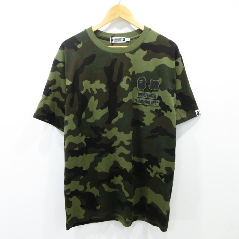 【中古】A BATHING APE×UNDEFEATED/アベイシングエイプ×アンディフィーテッド カモ柄 半袖Tシャツ サイズ:XL カラー:- / ストリート【f103】