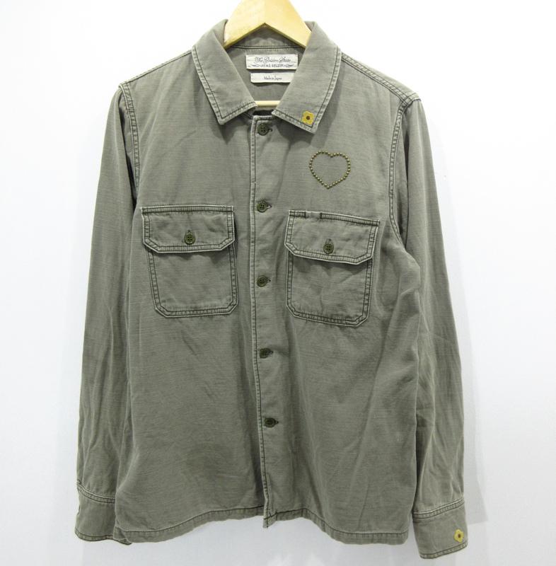 【中古】REMI RELIEF/レミレリーフ ミリタリーシャツ サイズ:L カラー:カーキ / セレクト【f099】