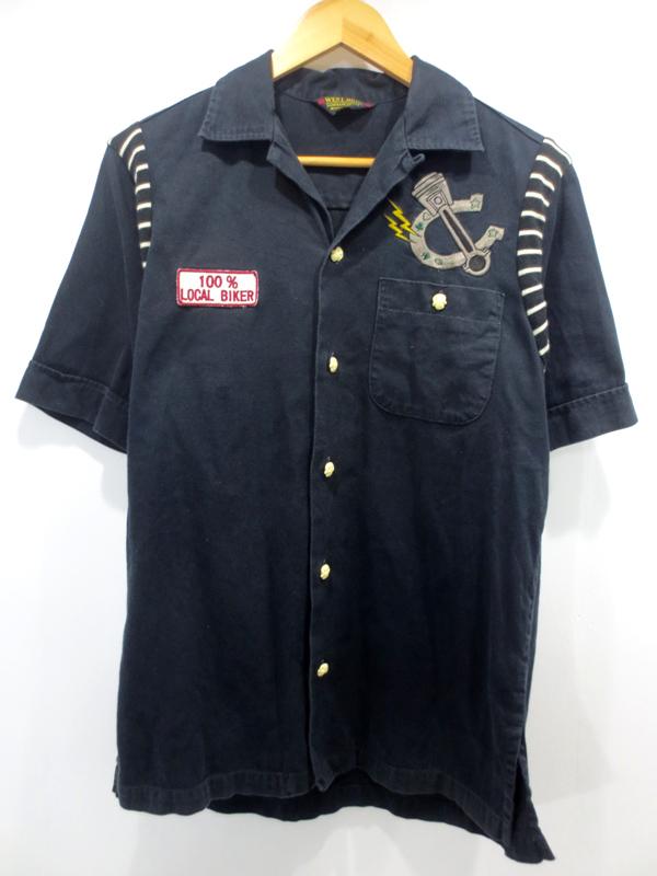 【中古】WEST RIDE/ウエストライド 刺繍 オープンカラーシャツ サイズ:M カラー:ブラック / ドメス【f104】