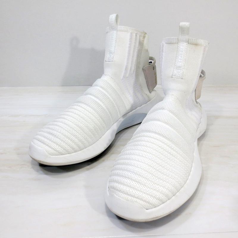 【中古】adidas Originals|アディダスオリジナルス CQ1012 CRAZY 1 ADV SOCK PK ASW クレイジー1 ソック プライムニット / スニーカー サイズ:28.5cm カラー:ホワイト【f126】