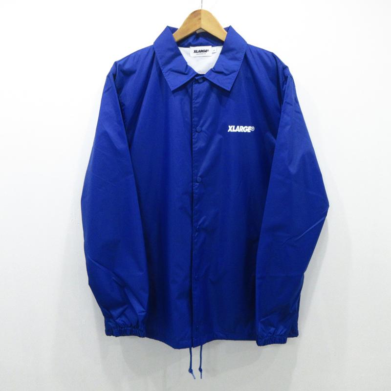 【中古】X-LARGE/エクストララージ コーチジャケット サイズ:L カラー:ブルー / ストリート【f095】