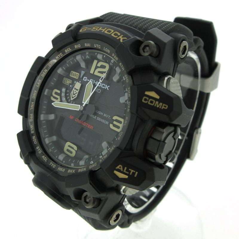 【中古】CASIO/カシオ G-SHOCK MUDMASTER 腕時計 GWG-1000 ブラック系×ブラック ソーラー 樹脂バンド【f131】