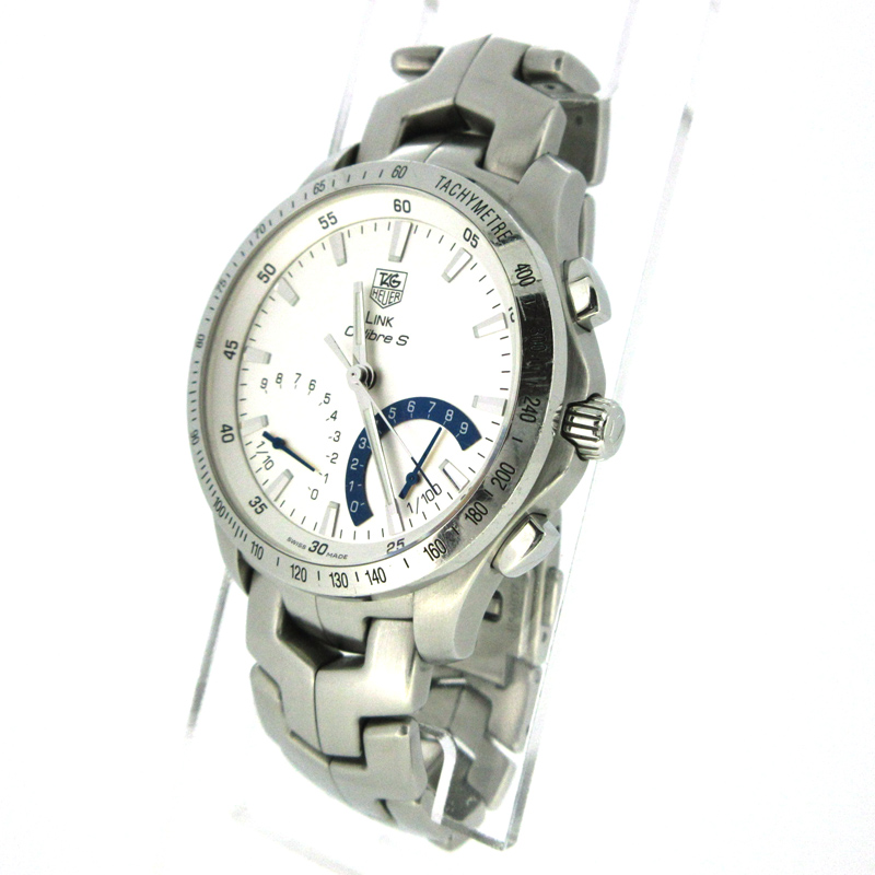 【中古】TAG HEUER/タグホイヤー LINK キャリバーS 腕時計 CJF7111.BA0592 シルバー×シルバー クォーツ ステンレススティールベルト