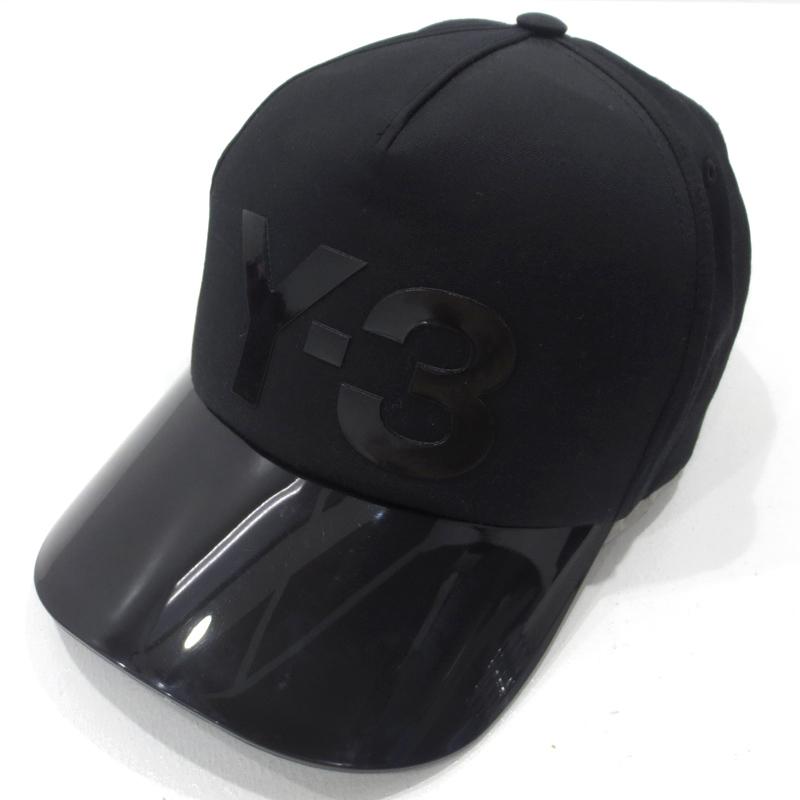 【中古】Y-3|ワイスリー バイザー キャップ サイズ:- カラー:ブラック【f118】