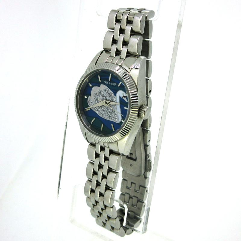 【中古】PAUL&JOE/ポール&ジョー スワン 腕時計 PJ7008 マルチ×シルバー クォーツ ステンレススティールベルト【f131】