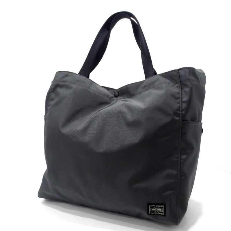 【中古】PORTER|ポーター 吉田カバン JOIN 2WAY トートバッグ ショルダーバッグ サイズ:- カラー:グレー【f121】