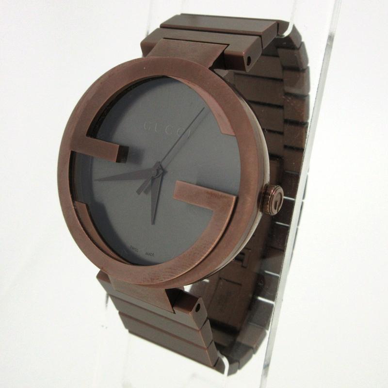 【中古】GUCCI/グッチ インターロッキング 腕時計 カラー:ブラウン【f135】
