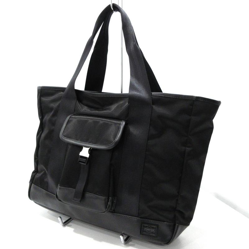 【中古】PORTER|ポーター 吉田カバン STORM トートバッグ サイズ:- カラー:ブラック【f121】