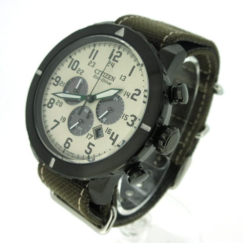 【中古】CITIZEN/シチズン エコドライブ 腕時計 カラー:カーキ【f131】