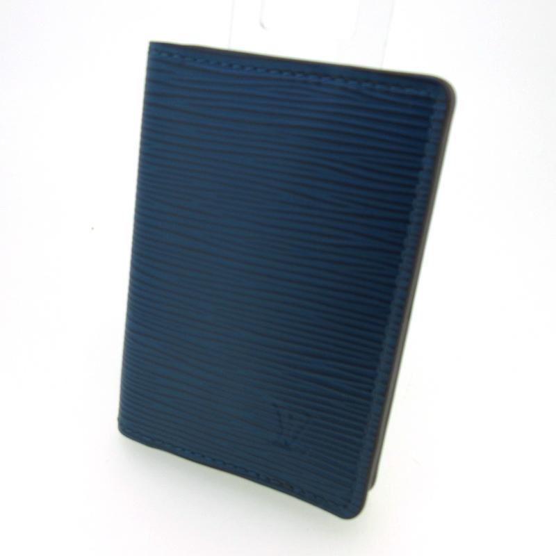 【中古】LOUIS VUITTON/ルイヴィトン オーガナイザー ドゥポッシュ カードケース カラー:ブルー系【f125】
