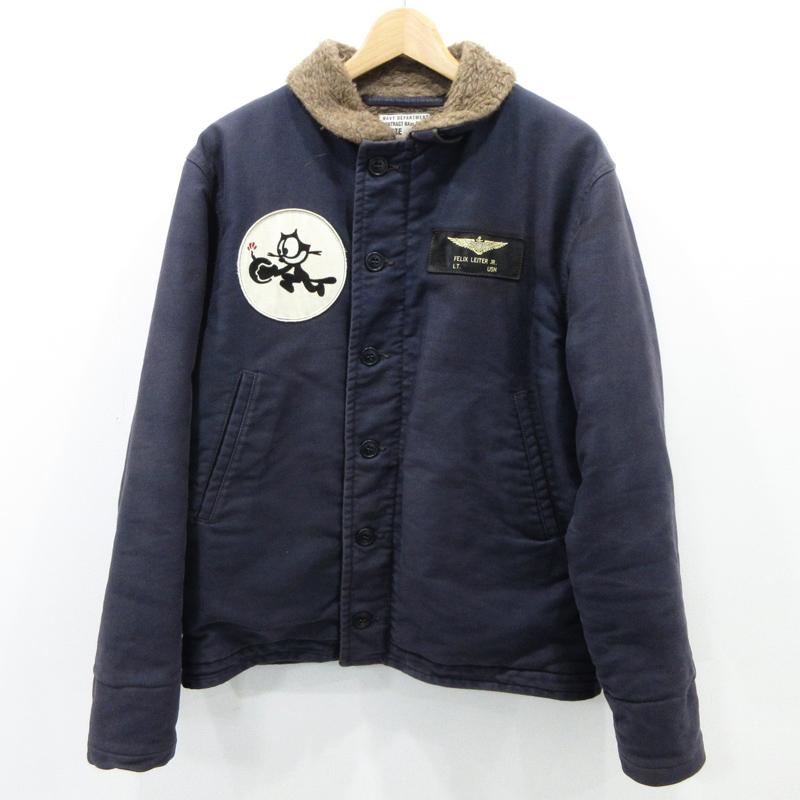 【中古】TOYS McCOY/トイズマッコイ Felix N-1 デッキジャケット サイズ:40 カラー:ネイビー系 / アメカジ【f093】