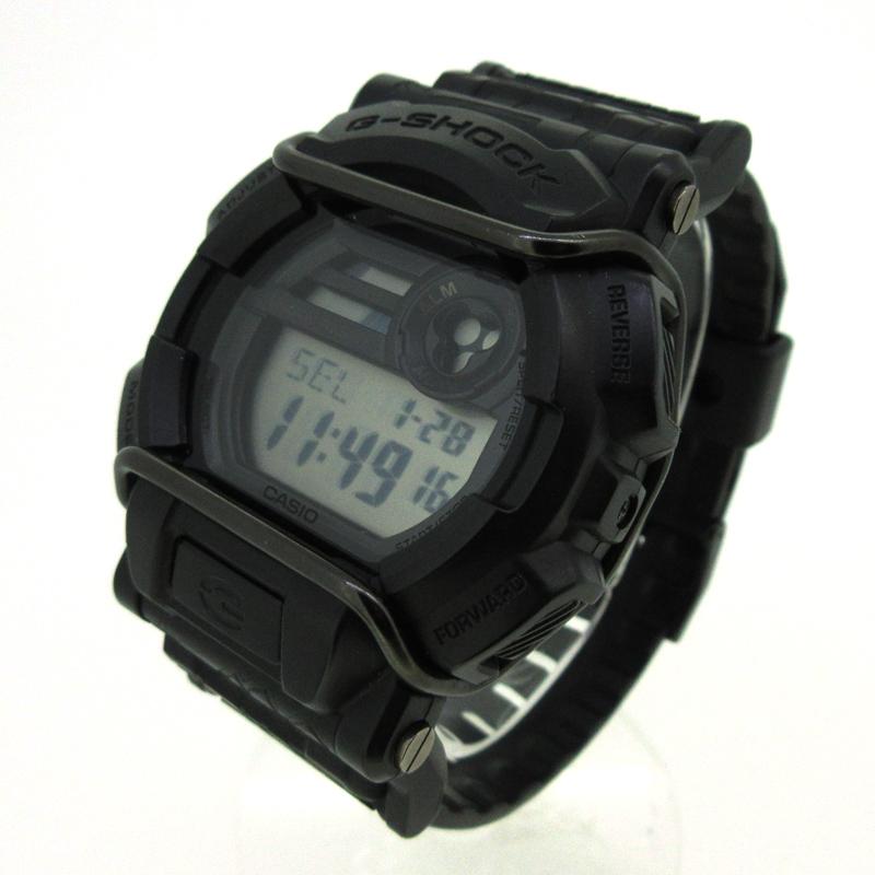 【中古】CASIO×HUF/カシオ×ハフ コラボ G-SHOCK 腕時計 カラー:ブラック【f131】