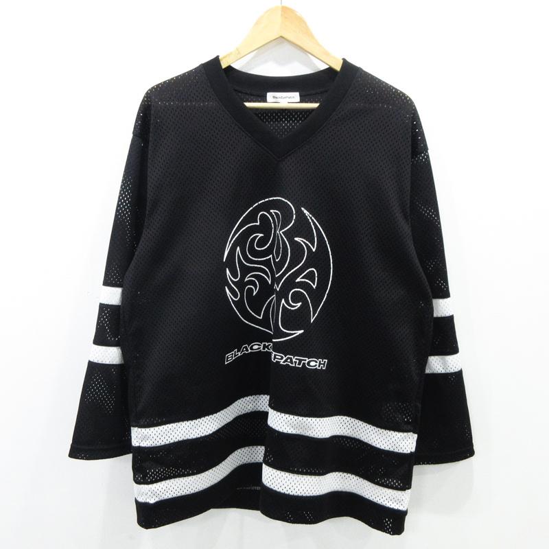 【中古】Black Eye Patch/ブラックアイパッチ ホッケージャージ 長袖Tシャツ サイズ:L カラー:ブラック / ストリート【f103】