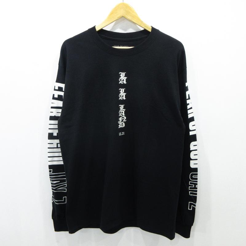 【中古】FEAR OF GOD|フィアオブゴッド JAY-Zコラボ 長袖Tシャツ サイズ:L カラー:ブラック【f108】