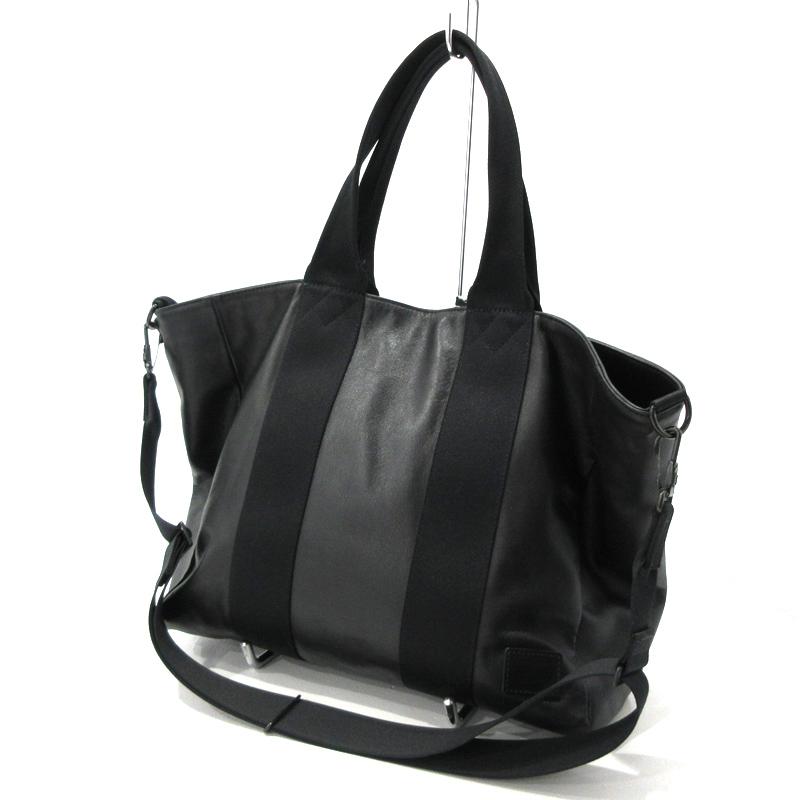 【中古】PORTER|ポーター 2WAY トートバッグ サイズ:- カラー:ブラック【f121】