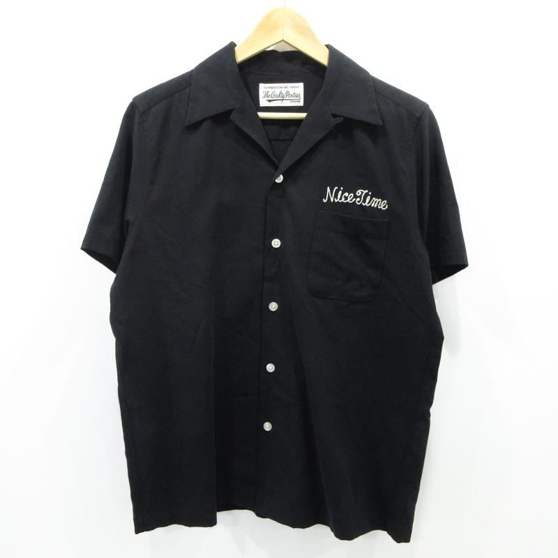 【中古】WACKO MARIA|ワコマリア 50'S SHIRT S/S ( TYPE-5 ) 虎刺繍 シャツ 半袖 サイズ:S カラー:ブラック【f104】