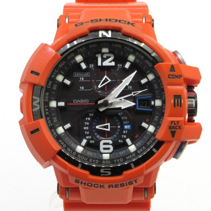 【中古】CASIO カシオ G-SHOCK SKY COCKPIT スカイコックピット GW-A1100R-4A 腕時計 サイズ:- カラー:オレンジ【f131】