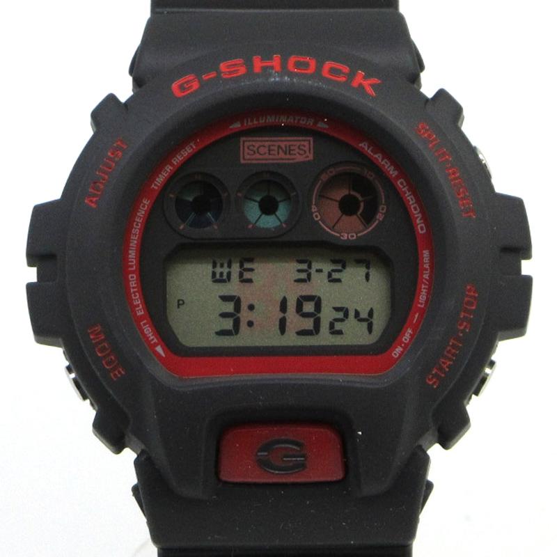【中古】CASIO|カシオ G-SHOCK DW-6900BZ(DW-6900FS) B'z LIMITED MODEL 30th Year Exhibition SCENES 1988-2018 レッド Gショック 30周年記念 腕時計 サイズ:- カラー:レッド【f131】