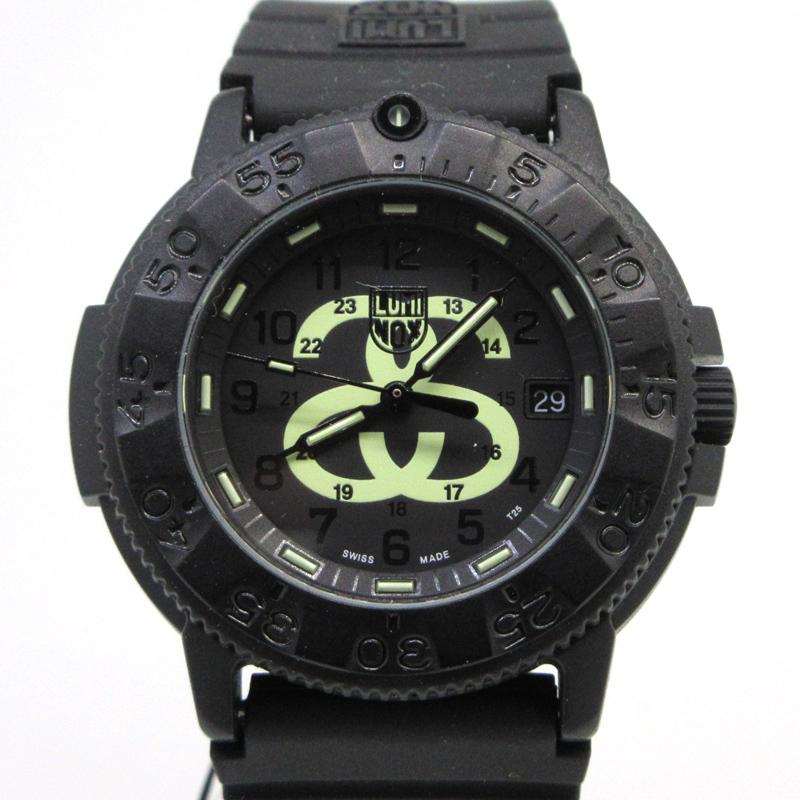 【中古】LUMINOX ルミノックス NAVY SEALS3000 STUSSY コラボ 腕時計 サイズ:- カラー:ブラック【f131】