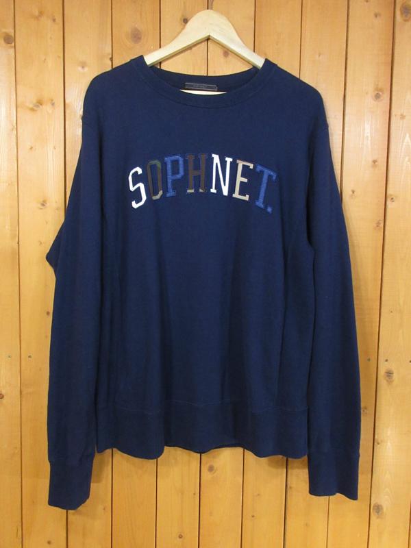 【中古】SOPHNET./ソフネット スウェット サイズ:L カラー:ネイビー / ストリート