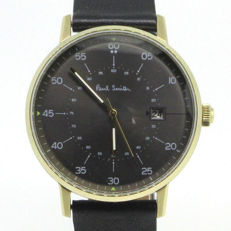 【中古】Paul Smith|ポールスミス 腕時計 サイズ:- カラー:ブラック【f131】